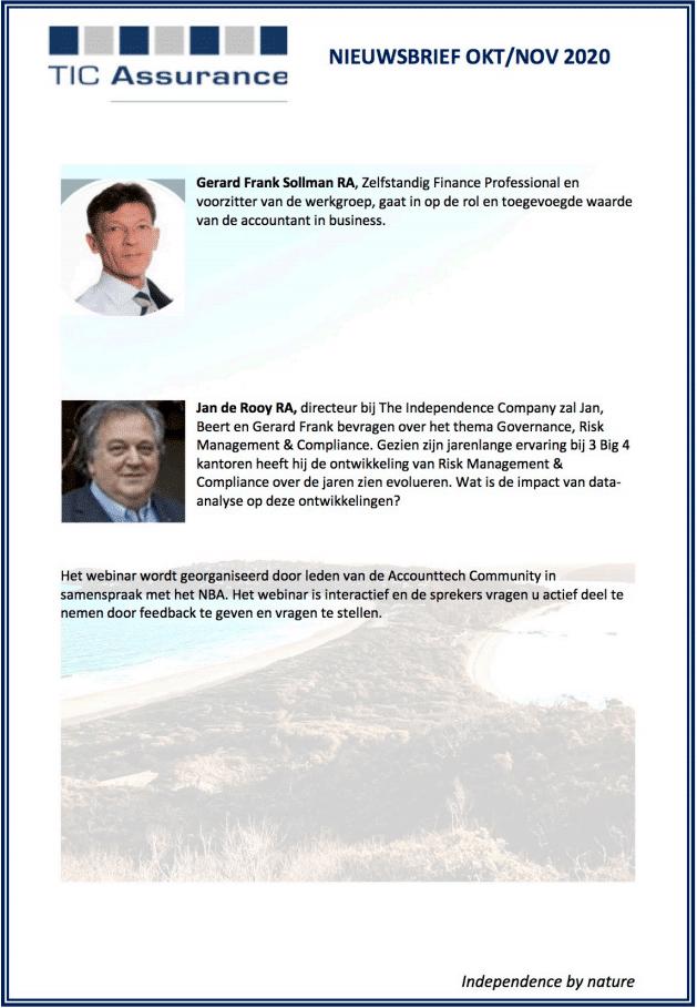 Webinar Data Analyse en Governance, Risk Management & Compliance